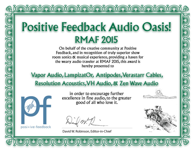 Audiophile Oasis Award